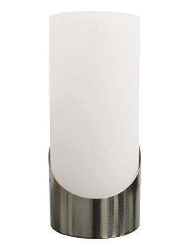 """Trango Vidrio LED Lámpara de mesilla TG2017-02 lámpara de mesa""""Andrea"""" con 1x E14 LED iluminante 3000K blanco cálido alféizar de la ventana, lámpara de mesa, lámpara de noche para dormitorio"""
