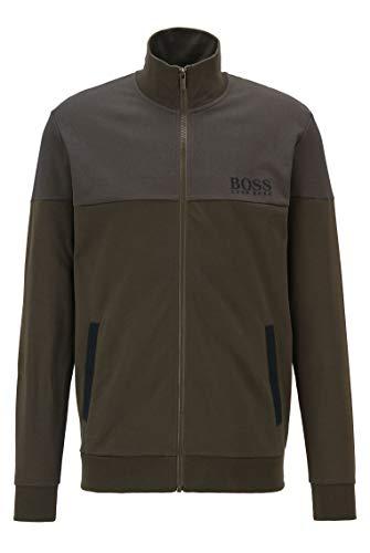 BOSS Herren Tracksuit Jacket Regular-Fit Loungewear-Jacke aus Piqué