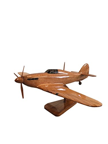 Hawker Hurricane Fighter Aircraft - Britse militaire vliegtuigen - Executive Houten Desktop Model (Mahogany)