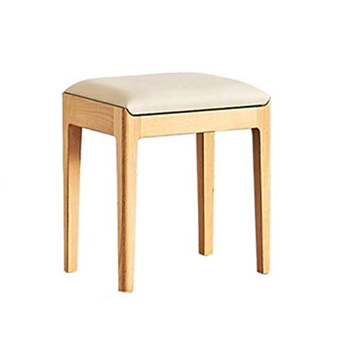 XuZeLii Silla con Taburete De Vanidad Moderno Simple All Solid Wood Folle Taburete Beech Beech Nordic Sub Taburete Se Puede Utilizar con Tocador (Color : Natural, Size : 30x42x45cm)