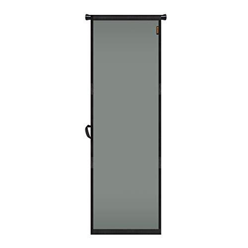 "MAGZO Hanging Screen Door 24"" x 80"" Grey, Durable Fiberglass Screen Doors with Retractable Tension Rod and Hook&Loop (One Piece Can be Installed in Two Ways), Works on a Travel Trailer/RV Screen Door"