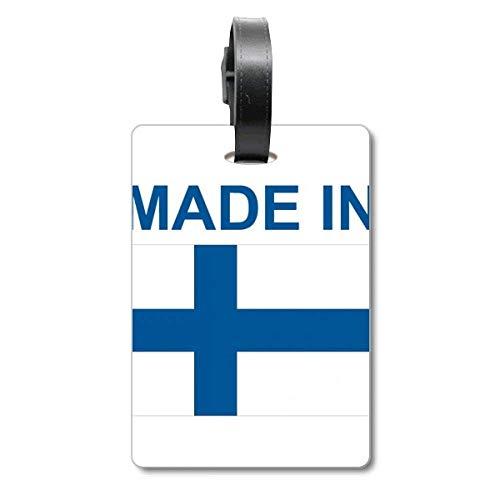Etiqueta de identificación para Maleta con Texto en inglés «Made in Finlandia»