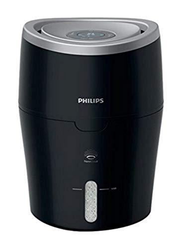 Philips HU4813/10 Luftbefeuchter (bis zu 44m², hygienische NanoCloud-Technologie, leiser Nachtmodus, Automodus) schwarz