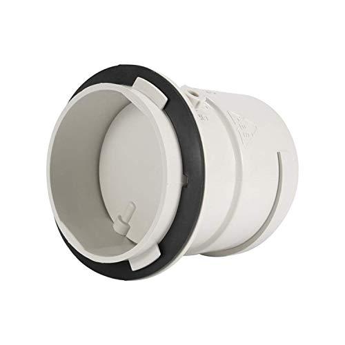 YDONGIIU Lüftungsöffnungen, 75mm Inline-Kanal-Lüfter-Rohrverbinder, Luftlüftungs-Abgaslüfter Lüftungsventil-Snap-On-Rohrlüfter-Plug-In-Verschlussluftdämpfer
