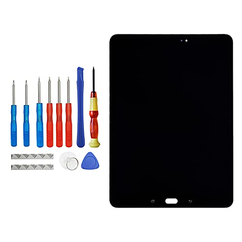Vvsialeek Pantalla táctil de repuesto AMOLED compatible con Samsung Galaxy Tab S3 9.7 (2017) SM-T820 SM-T825 LCD con kit de herramientas.