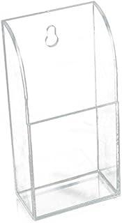 Cikuso Caja de Almacenamiento de Montaje en Pared de Montaje en Pared Caso de Titular de acrilico de Control Remoto de TV y Aire Acondicionado (1 Caso)
