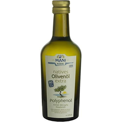 Mani Bläuel Olivenöl mit 350 mg/kg Polyphenolen, nativ extra (375 ml) - Bio
