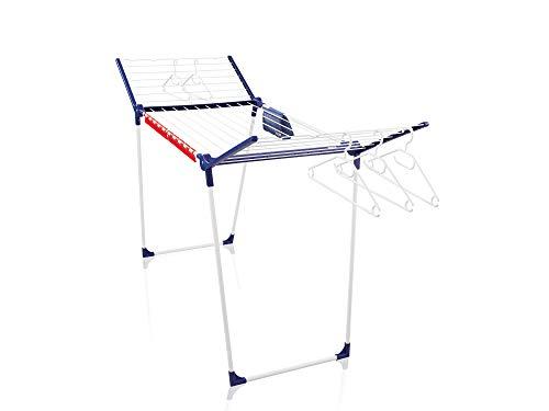 Leifheit Standtrockner Pegasus 200 Solid Comfort mit 20m Trockenlänge, Flügelwäschetrockner für lange Wäschestücke, Wäscheständer mit Bügelstangen