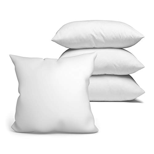 Kopfkissen 4er Set 45x45 cm Steppkissen Mikrofaser - Kissen für Allergiker füllkissen Bettkissen Schlafkissen weiß Pillow