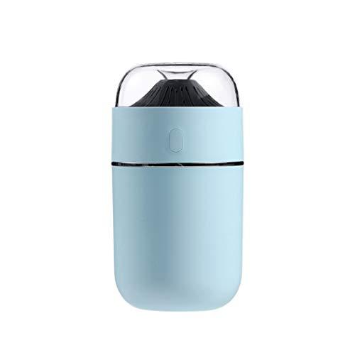 (2 stuks) Top Fill Cool Mist luchtbevochtigers, for slaapkamer Luchtbevochtiger, Twee straalsoorten Automatische uitschakeling, 320ml (Color : Blue)