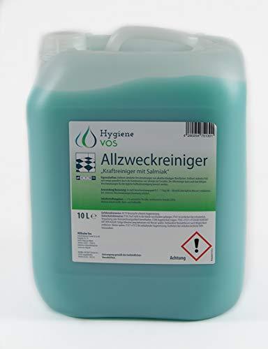 Hygiene VOS Allzweckreiniger mit Salmiak 10 Liter Kanister. Alkalischer Hochleistungsreiniger für alkalibeständige Bodenbeläge