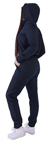 Finchgirl Damen Jumpsuit Overall Einteiler Jogging Anzug Navy - 2