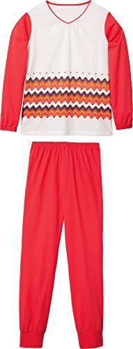 laritaM Schlafanzug mit Druckmotiv Interlock-Jersey natur Größe 176
