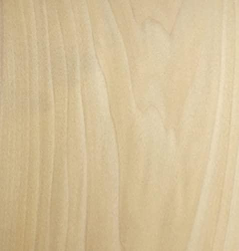 Aibote Hoja de Chapa de Madera de boj Natural(25 x 250 cm)Hojas de Restauración de Muebles para Altavoz Vitrina Gabinetes de Mesa Estantes de Cocina