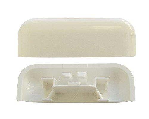 Wasserschlitzkappe soft edge, verkehrsweiß, RAL 9016 (100 ST)