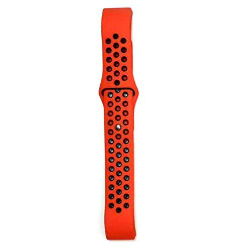 shuxun Cinturino Compatibile con Fitbit Charge 2, Cinturino Sportivo A Due Colori, Braccialetto in Silicone Regolabile 9,5+15,3 cm Rosso+Nero
