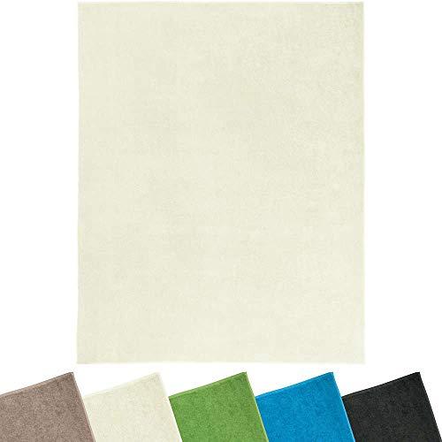 Erwin Müller Frottierdecke, Sommerdecke, Picknickdecke, Wohndecke 100prozent Baumwolle Natur Größe 150x200 cm - weiche Qualität, saugfähig, atmungsaktiv, temperaturausgleichend - (weitere Farben)