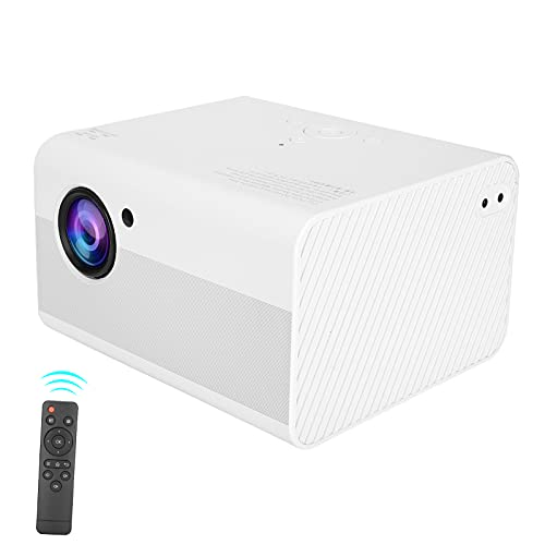 Zunate Proyector para la versión de Android, Proyector de Pantalla de película 1080P, Proyector de Video para Exteriores Bluetooth 4.0, Proyector LED 1 + 8G para Cine en casa(EU)