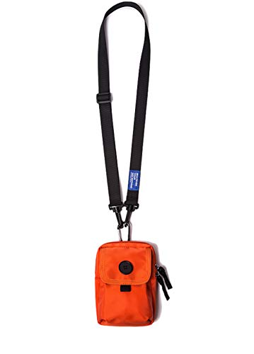 Jeelow Mini Cell Phone Small Lightweight Crossbody Bags Purses Outdoor Travel Pouch Waist Pack For Men & Women (Orange)