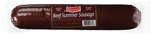 Klements beef summer sausage, 3-lb. plastic wrapped tube