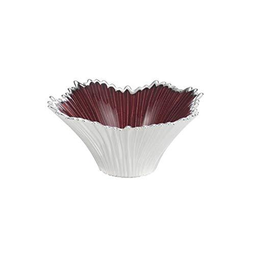 Argenesi Venezia Bol en Verre 15 x 7 cm – Couleur Rouge, Taille Unique