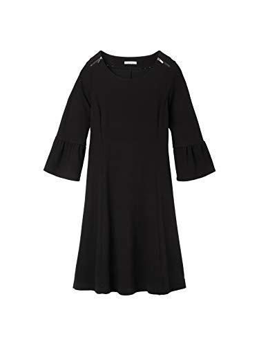 Sandwich Damen A-Linien-Kleid mit Trompetenärmeln
