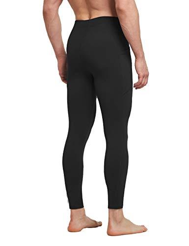 BALEAF Men's Athletic Yoga Leggings Gym Training Workout Running Compression Pants Dance Tights Pocketed