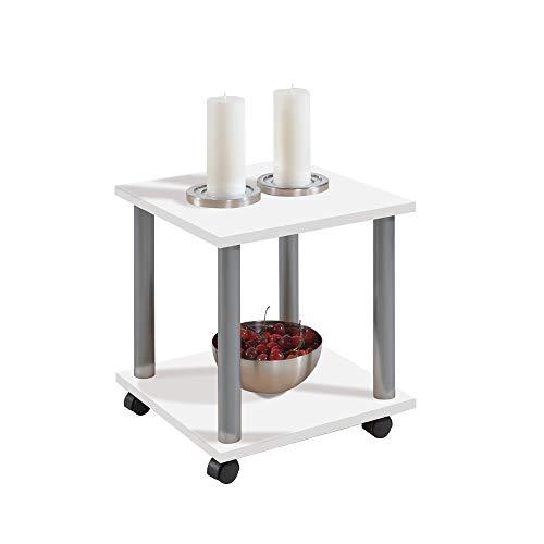 FMD Möbel 600-011 Beistelltisch Jango 11 (B/H/T) 40 x 44.5 x 40 cm weiß