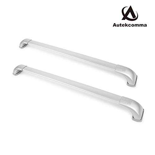 Autekcomma Roof Rack Cross Bars Compatible for Toyota Highlander 2014 2015 2016 2017 2018 2019 XLE/LE/SE/Limited Silver Painting Aluminum Alloyed Anti-Corrosion Crossbars (Sold as 1 Pair)