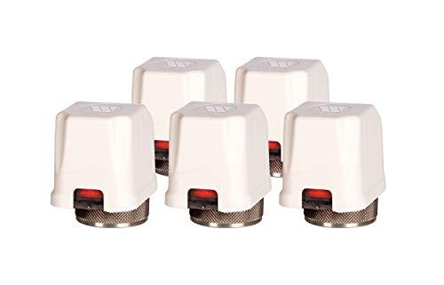 Watts Set de actuador para calefacción por suelo radiante, distribuidor 230 V 22CX 230NC2, 1,8 W, 5 unidades