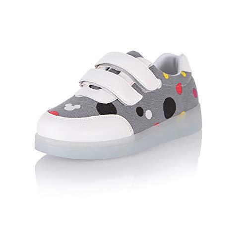 Zapatos LED para niños, Zapatillas Luminosas Recargables USB de 7 Colores, Zapatillas universales para niños y niñas