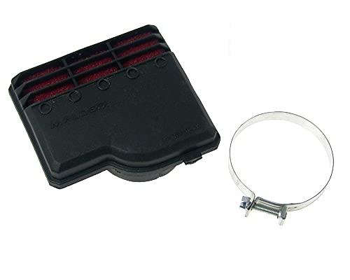 Filtro aria da corsa Malossi E9, SHA 13, per Piaggio Ciao/ PX/ SI / Bravo/ Superbravo/ Grillo/ Boss connettore: 50 mm, nero, rosso.