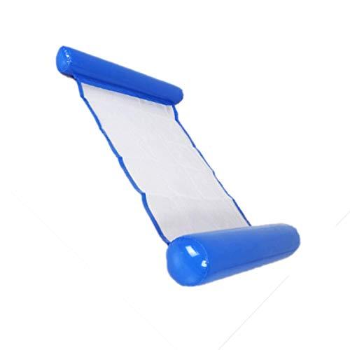 BANGSUN Hamaca de agua 4 en 1 multiusos inflable para piscina, flotador divertido en el patio trasero, natación, azul oscuro