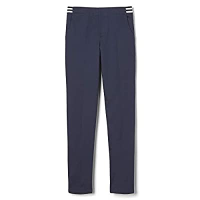 French Toast Girls' Little Stretch Contrast Elastic Waist Pull-on Pant, Navy, 6X