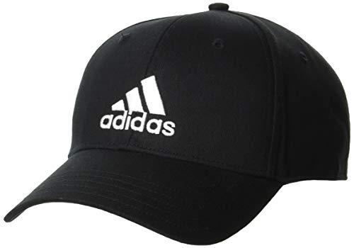 adidas Bball cap COT Cappellino, Unisex – Adulto, Black/Black/White, OSFM