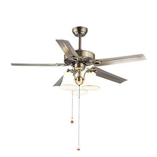 Industriële plafondventilator met 3 spots LED hanglamp voor woonkamer hanglamp (kleur: A)