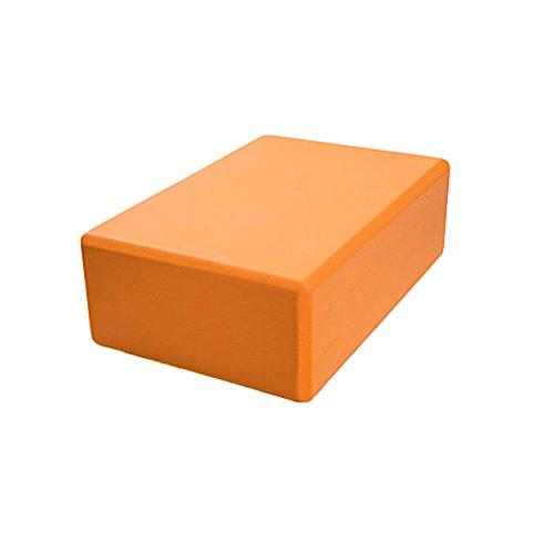 Artibetter Yoga Pilate Bricks Eva Schaumstoffblöcke Stärke Stützblock (Orange)