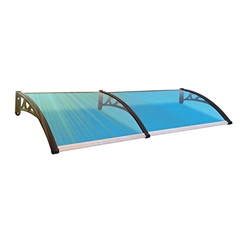 Toldo de puerta para ventana, cubierta para patio protege del sol, la lluvia, el aguanieve o la nieve de 60/80 cm, material insonorizado para puerta delantera (color: azul, tamaño: 60 x 240 cm)