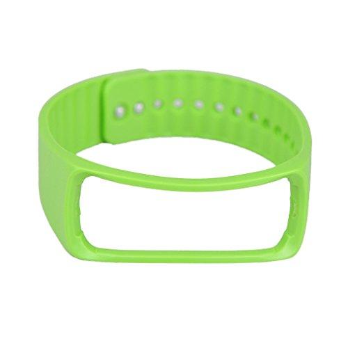 Pulsera Reemplazo Banda Accesorio Muñequera para Samsung Gear Fit R350 Smart Watch Reloj Inteligente - Verde