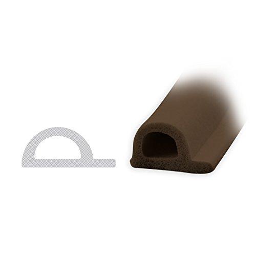DIWARO® Selbstklebende - Dichtung SK002 P-Profil | braun | 5 Meter | geeignet als Fensterdichtung wie auch als Türdichtung. Mit starken und sehr haltbaren Klebeboden.