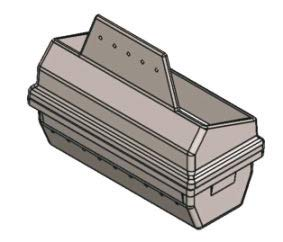 Braciere originale MCZ per termostufe a pellet Athos HYDRO, Nova HYDRO, Polar HYDRO, cod. 4130870