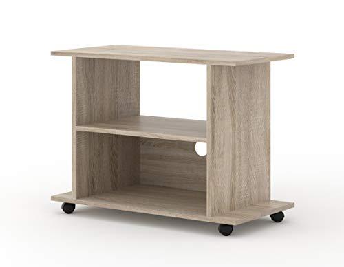 BIM Furniture TV Lowboard kast met wielen Yogi 80 cm TV tafel dressoir commode Hi-Fi tafel sonoma eiken