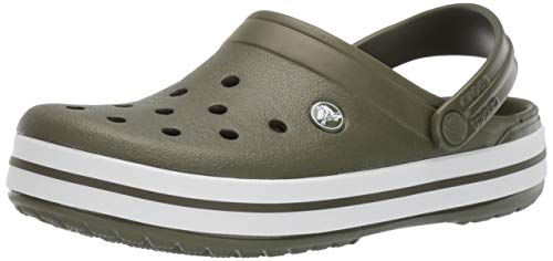Crocs Crocband U, Zuecos Unisex Adulto, Verde (Army Green-White 37p), 41-42 EU