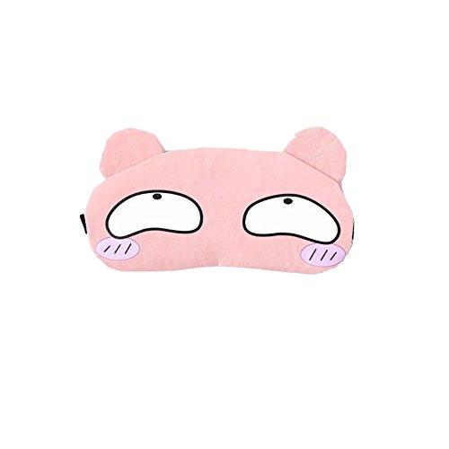 Chaque Masque de sommeil de no/ël mignon Animal couverture des yeux masque de sommeil cerf hiver Carton sieste ombre /à paupi/ères masque pour filles femmes adulte