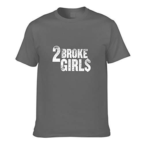 AILIBOTE 2 Broke Girls Logo Camiseta para hombre