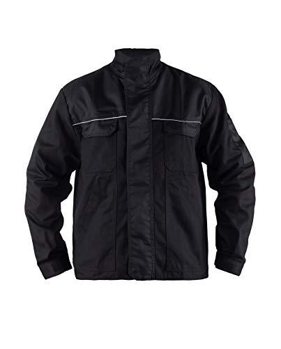 TMG® Herren Arbeitsjacke Bundjacke - leichte Jacke für die Arbeit für Handwerker - schwarz - L
