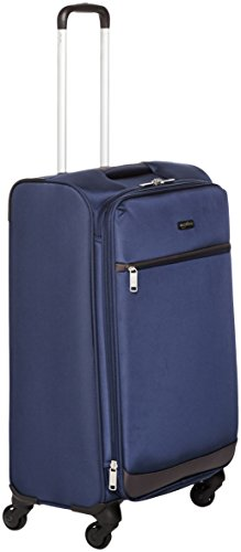 Amazon Basics - Trolley morbido con rotelle girevoli, 74 cm, Blu navy