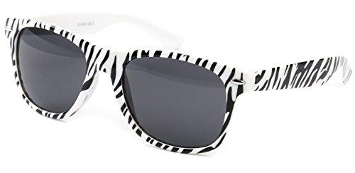 Ciffre Nerdbrille Nerd Sonnenbrille Nerd Atzen Pilotenbrille Brille Zebra Weiß Schwarz