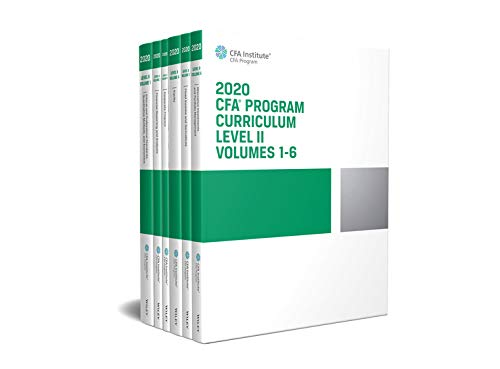 CFA Program Curriculum 2020 Level II Volumes 1-6 Box Set (CFA Curriculum 2020)