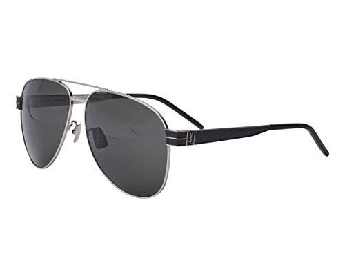 Yves Saint Laurent (SL-M-53 002 - Gafas de sol, color plateado, negro mate y gris